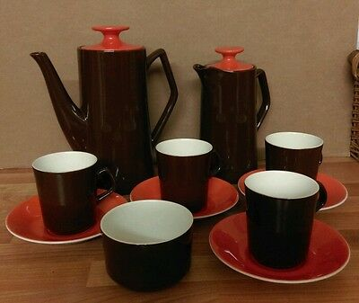 1970's Vintage Beswick Pottery Coffee Set - Retro Christmas Gift