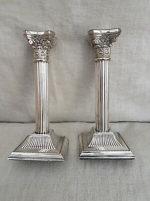 Stunning Pair if Corinthian Silver Plated Candlesticks - Yeoman Plate -...