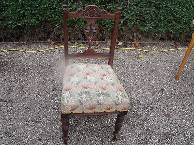 Antique Mahogany Edwardian Ladies Desk Chair Window Chair