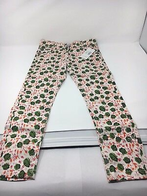 New with tag girl's white patterned jeans size 6 Okaidi