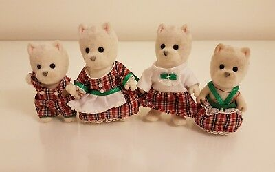 Rare Sylvanian families McWalkies West Highland Terrier dogs family