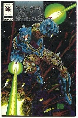 X-O Manowar 1 Valiant 1992 NM Embossed Error Misprint