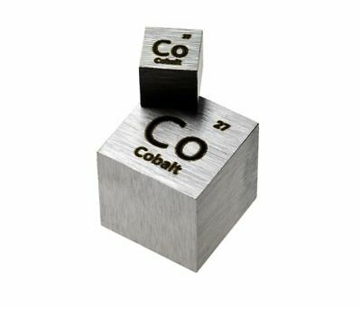 Cobalt Metal 20mm Density Cube 99.95% Pure for Element Collection