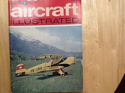 BUCKER 131 Jungmann HB-URH  Swiss Airforce. Aircraft Ilustrated Mag April 1969