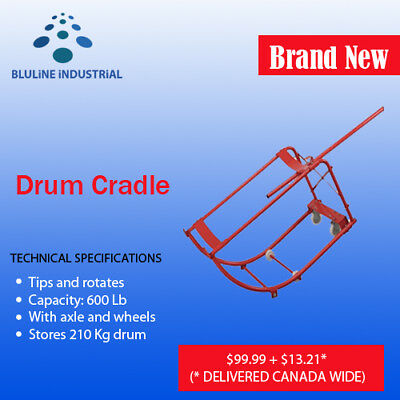 Drum Cradle, capacity 600 Lb, stores 210 kg drum - SHIPS FROM CANADA