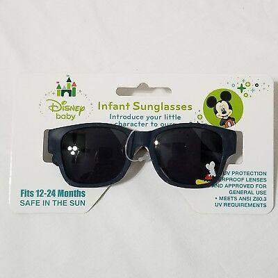 Disney Baby Mickey Mouse Navy Blue Infant Sunglasses 12-24 Months NWT