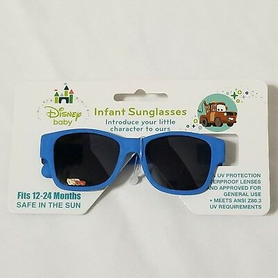 Disney Baby Cars Mater Blue Infant Sunglasses 12-24 Months NWT