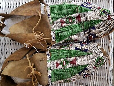 Antique Beaded Sioux Moccasins