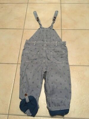 john lewis boys blue striped dungarees age 2-3 years excellent condition