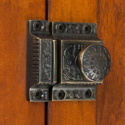 Signature Hardware Solid Brass Cabinet Latch with Windsor Knob