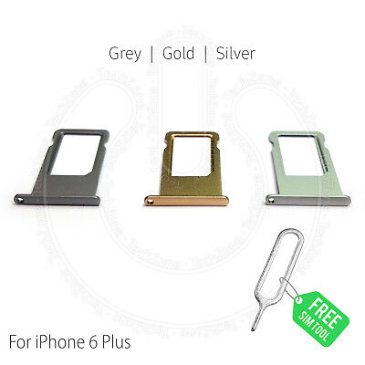 """SIM Card Holder Tray Slot for iPhone 6 PLUS 5.5"""" + SIM Tray Ejector Tool"""