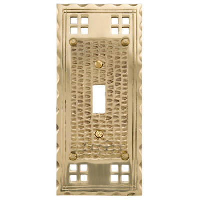 Signature Hardware Mission Design Solid Brass Switch Plate