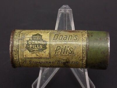 Old Style DOAN'S Pills Pharmaceutical Tin - Vintage Antique - Buffalo New York
