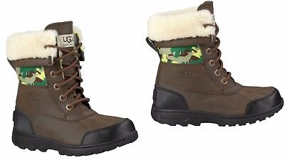 656c280d5a9 UGG KIDS Butte II Backcountry Camo Boots Grizzly (GRZ) 1008376K