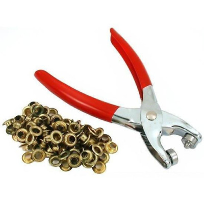 Eyelet Pliers Fabric Tent Hole Punch Tool 100 Grommets