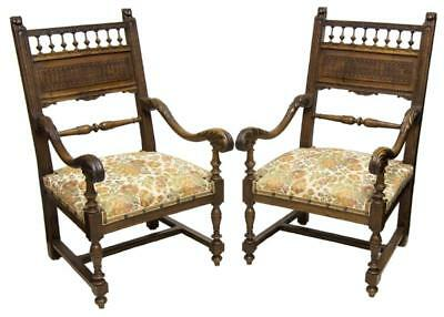 (2) FRENCH RENAISSANCE REVIVAL STYLE ARMCHAIRS, 19th Century ( 1800s )
