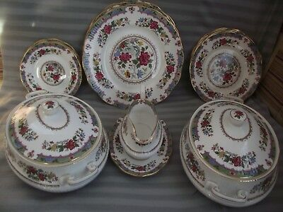 Queen`s/Rosina China Co Ltd - `Flower of Amaran` Design - Table Items - c1960`s