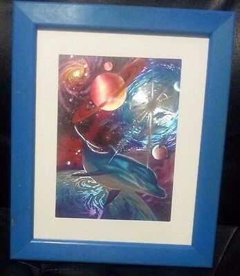 2 X Framed Dolphin Art
