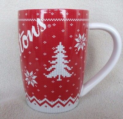 Tim Horton's Coffee Mug Snowflake Sweater #015 Limited Edition 2015 Collectible