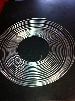 """Brake Pipe .3/16"""" Zinc Coated  5 M  Roll Stainless Look"""