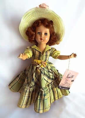 """GORGEOUS!!! Vintage 1950 NANETTE 14"""" Tall With Tag NPW by Arranbee R & B"""