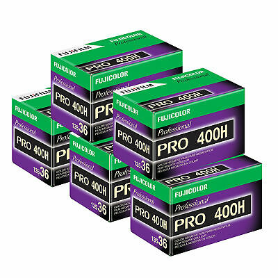 5 x Fuji Pro 400 H Film Pack 135 (36 Exposures)