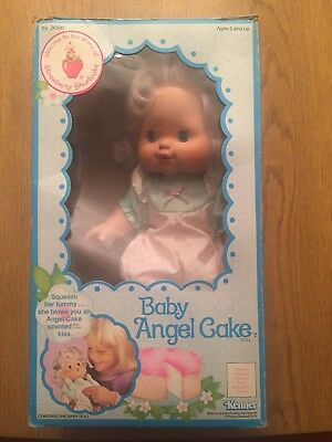 Vintage Kenner Baby Angel Cake Blow Kiss Doll Strawberry Shortcake with box