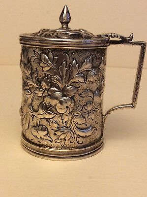 Antique Sterling Silver S.Kirk & Son, Ornate Baby Cup Mug Repousse,c.1921,4.5 oz