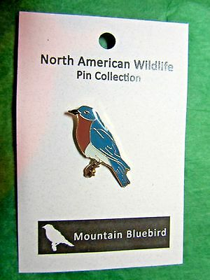 North American Wildlife Mountain Bluebird Lapel Hat Pin Travel Souvenir (48)
