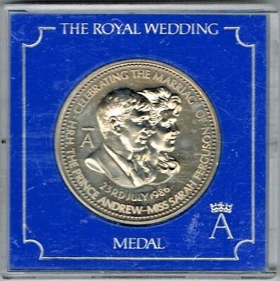 The Royal Wedding Medal 23rd July 1986 The Ceremony Blessed at Westminster Abbey
