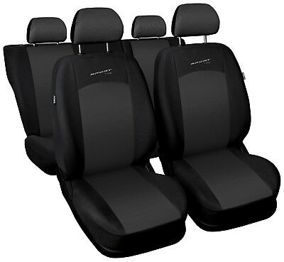 Car seat covers fit Nissan Qashqai 2006 - 2013 full set dark grey sport style