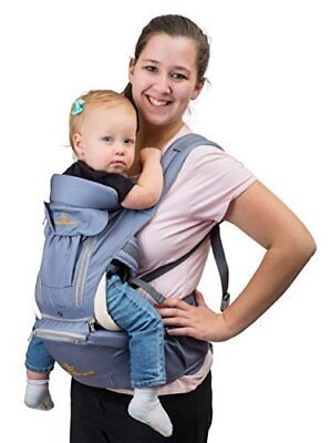 Brighter Elements 8-in-1 Baby Carrier with Hip Seat, Safe Ergonomic Style with