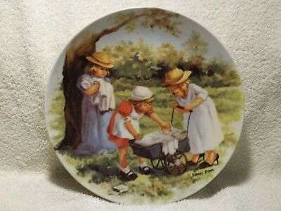 """""""OFFICE HOURS"""" 1984 PLATE ~ """"JEANNE DOWN"""" ~ HANDPAINTED COLLECTABLE Bradford"""