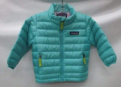 Patagonia Baby Down Sweater Jacket 60520 Strait Blue Size 2T