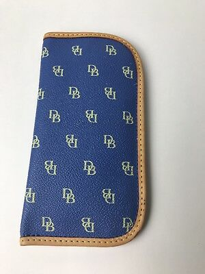 Dooney and Bourke Blue with nude edge Eyeglass Case ~fast free shipping ~