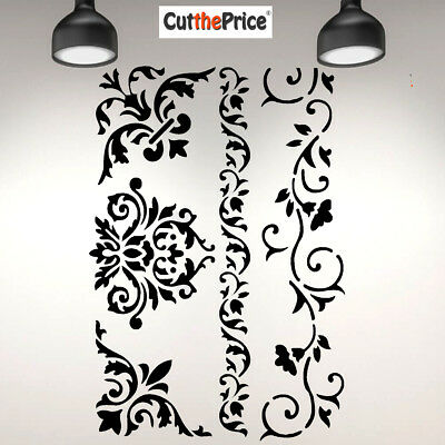 Flowers A4 Mylar Reusable Stencil Airbrush Painting Art Craft 032