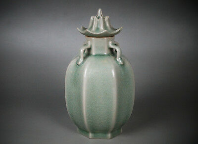 A Fine Collection of Chinese 12thC Ru Ware Porcelain Lidded Pots