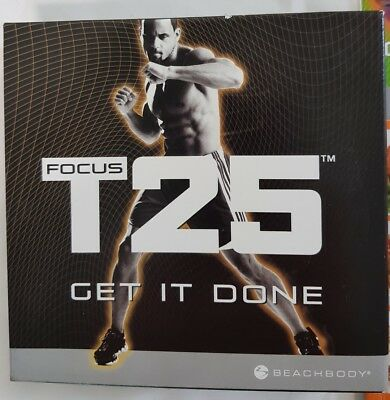 Focus T25 Get It Done Alpha + Beta Beachbody Mens Fitness Workout Dvd
