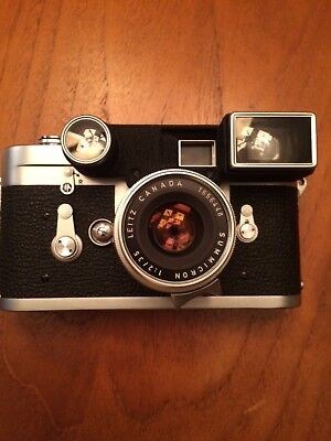 Leica M3 Camera with Leica Leitz Goggle Summicron 1:2 35mm V1 Lens 1957