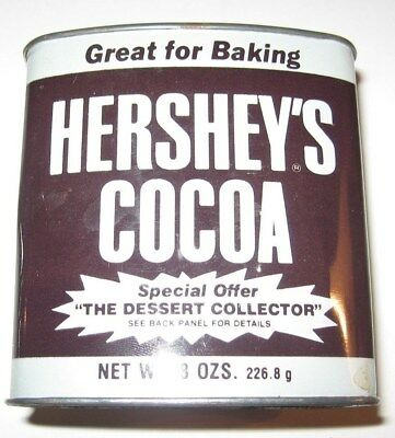 Vintage Hershey's Cocoa- Great For Baking 8 Ozs. Dessert Collection