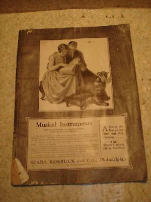 ~*original Antique 1927 Sears Roebuck Musical Instruments Catalog Guitars Banjos