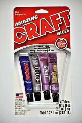 E6000 glue, Amazing Goop, Craft and Quick Hold Adhesive each tube .18 fl. oz.