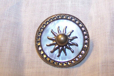 Vintage Art Deco Mother of Pearl Brooch Pin