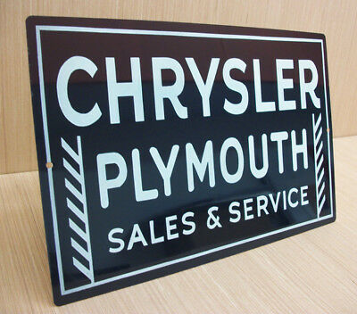 Chrysler Plymouth Sales & Service Vintage Style Metal Sign