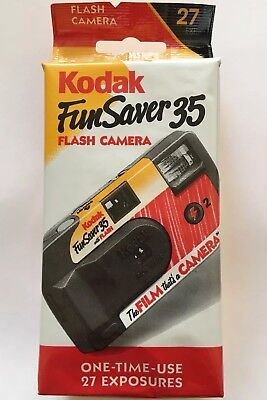 Kodak Funsaver 35mm Single Use Camera w/ Flash ISO400 Expired 2004 Free Shipping