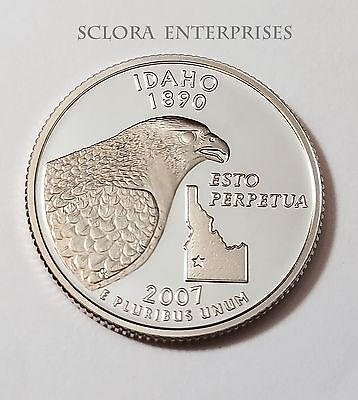 2007 S Idaho *90% Silver Proof* State Quarter   **free Shipping**