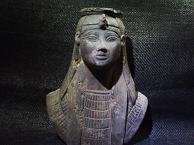 ANCIENT EGYPTIAN ANTIQUE Queen Cleopatra Bust Statue Sculpture Figure 332–300 BC
