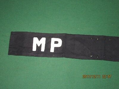 22F100%Orig WWII WW2 Vietnam 6th Cav MP Arm Band Brassard Wool Felt For Sleeve