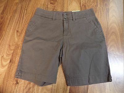 """NWT Sonoma Shorts Olive Green 9"""" Walking Stretch Original Fit Mid Rise Size 10"""