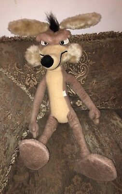 Vintage 1971 By Mighty Star, Warner Bros. Characters Wile E. Coyote Plush 31""
